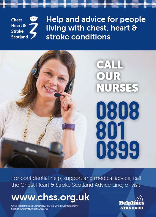 Chest Heart and Stroke Advice Line