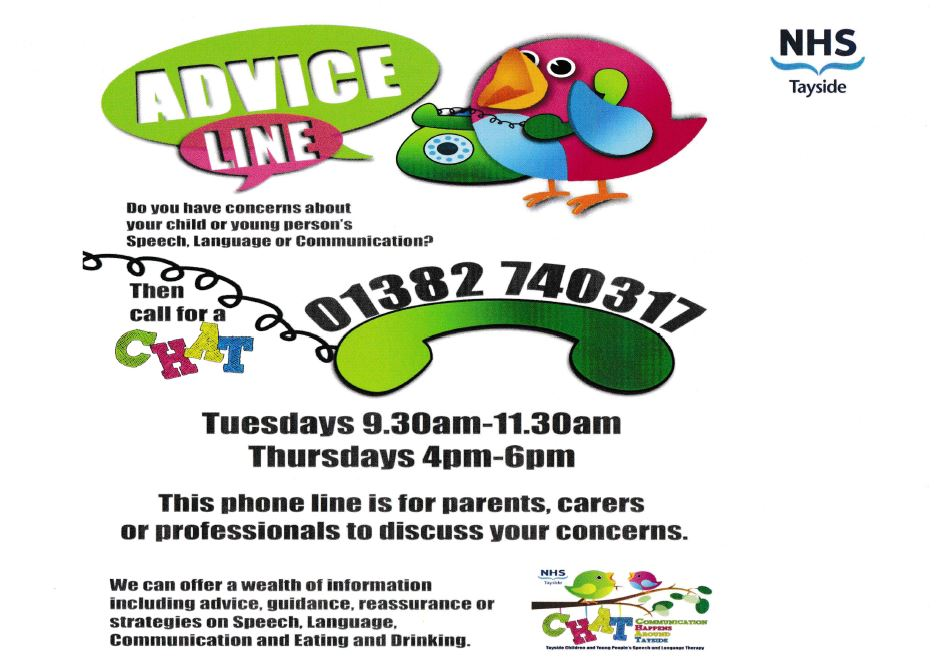 Child or Young Persons Speech and Language Advice Line