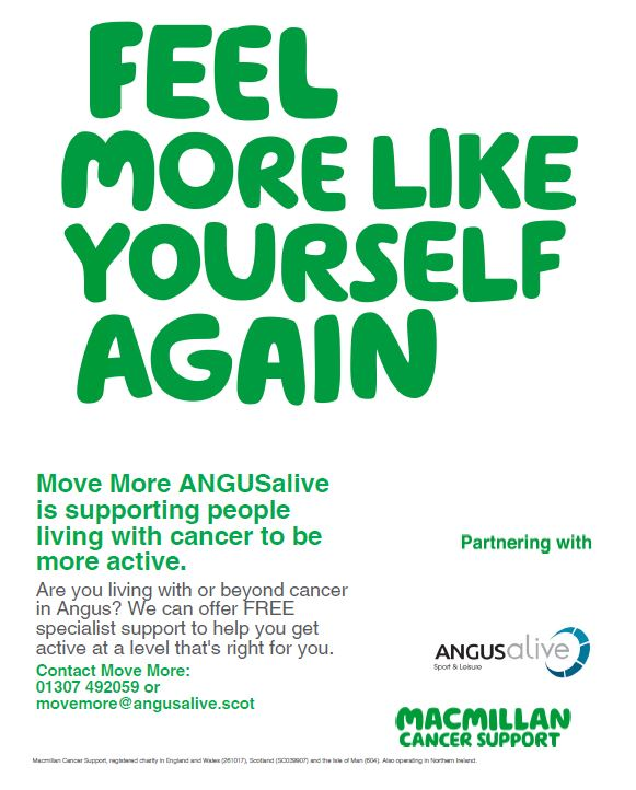 Move More ANGUSalive is supporting people living with cancer to be more active